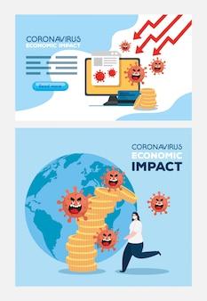 Coronavirus 2019 ncov incide sull'economia globale, covid 19 virus fa decollare l'economia, impatto economico mondiale covid 19