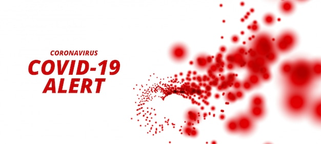 Coronavirus covid-19 pandemia epidemia allerta sfondo design