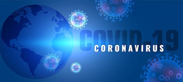 Coronavirus covid-19 sfondo di epidemia di malattia pandemica globale