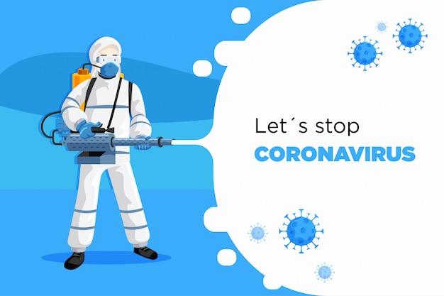 Coronavirus covid19 combattente