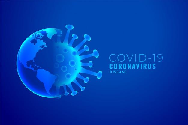 Coronavirus e disegno di sfondo del concetto di esplosione della terra