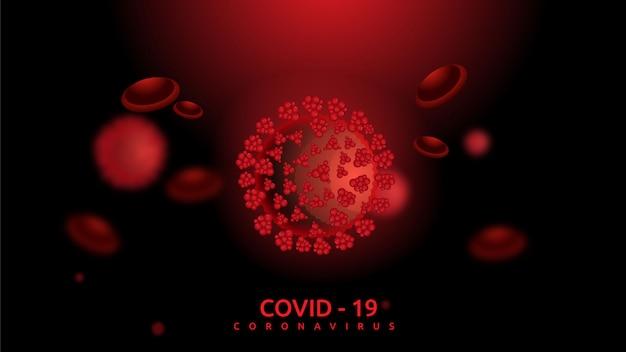 Coronavirus e sfondo delle cellule del sangue