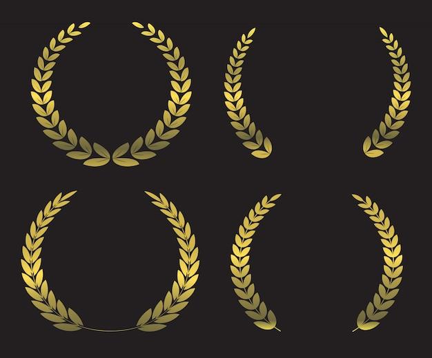 Corone d'alloro d'oro