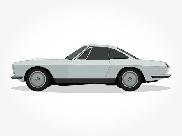 Corpo e orli dettagliati di un'illustrazione di vettore del fumetto dell'automobile