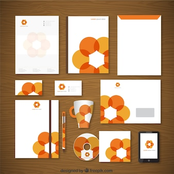 Corporate identity con fiore di arancia
