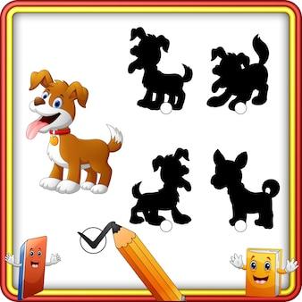 Corrispondenza dell'ombra del fumetto del cane