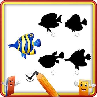 Corrispondenza dell'ombra del fumetto di pesce