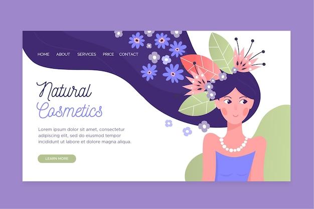 Cosmetici naturali - landing page