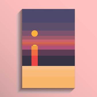Costa vista mare della spiaggia tropicale bianco oceano s con tramonto e cielo rosa