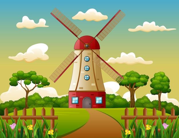 Costruire la torre sullo sfondo di fattoria
