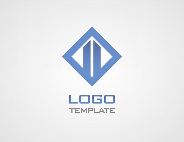 Costruire modello di lusso logo astratto concetto