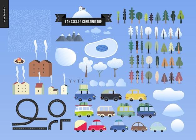 Costruttore di paesaggi invernali