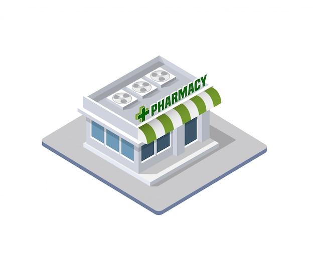 Costruzione isometrica 3d dell'ospedale