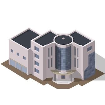 Costruzione urbana moderna 3d di affari