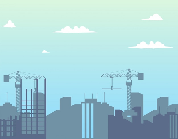 Costruzioni moderne della città di concetto