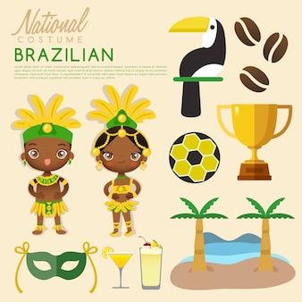 Costumi tradizionali brasiliani.