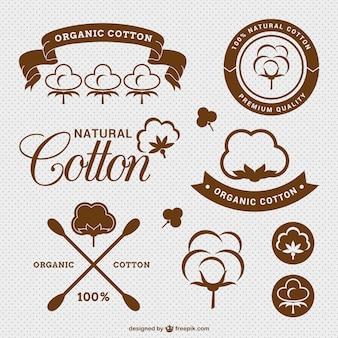 Cotone naturale etichette pacchetto