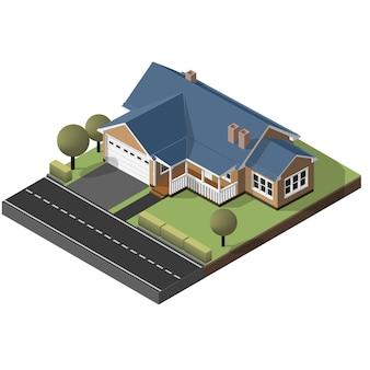 Cottage americano, piccola casa di legno