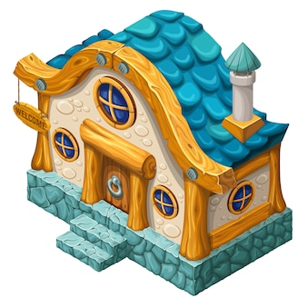 Cottage isometrico 3d