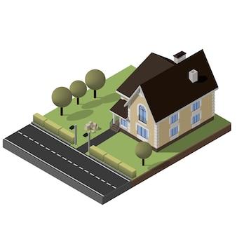 Cottage isometrico vettoriale