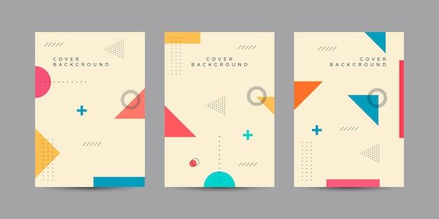 Cover design in stile memphis
