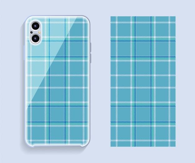Cover design per smartphone. modello geometrico del modello per la parte posteriore del telefono cellulare. design piatto.