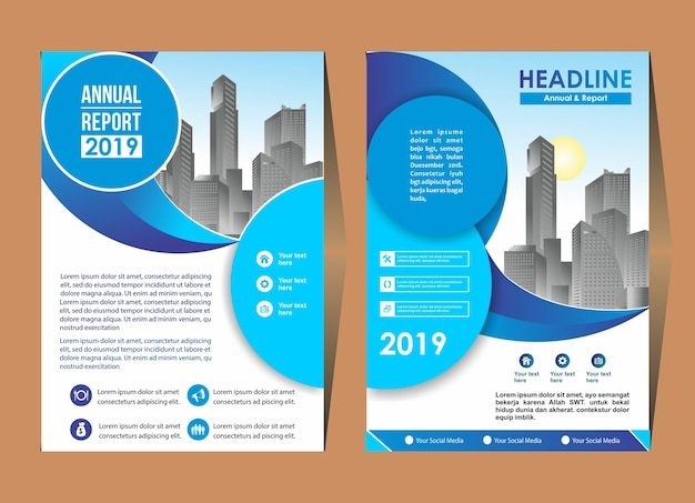 Cover design template flyer layout poster magazine rapporto annuale