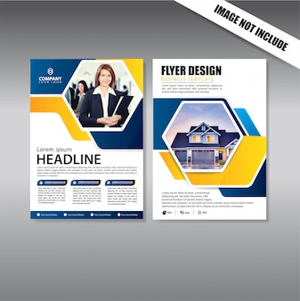 Cover design volantino e modello di business brochure