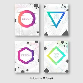 Cover di design con colorato effetto glitch