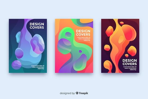 Cover di design con colorato effetto liquido