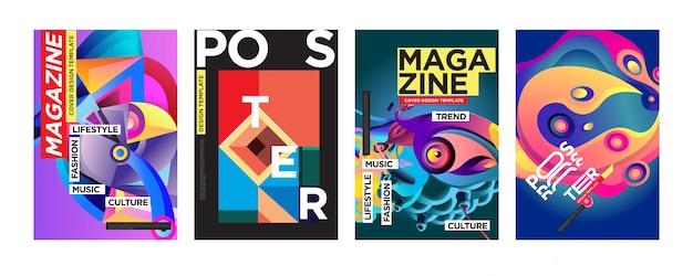 Cover e poster design template per magazine