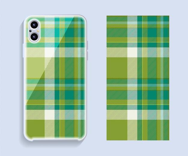 Cover per smartphone. modello geometrico del modello per la parte posteriore del telefono cellulare. piatto .