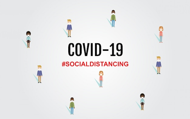 Covid-19 coronavirus concept design tipografia iscrizione