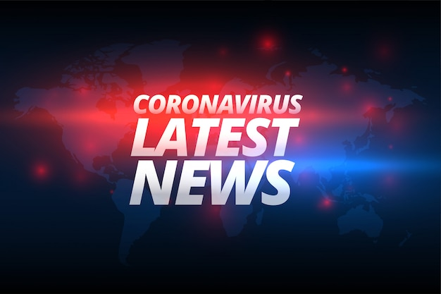 Covid-19 coronavirus ultime notizie banner design concept