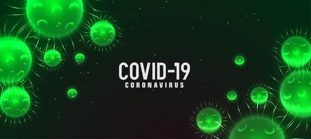 Covid-19 romanzo coronavirus concetto di bandiera verde