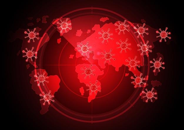 Covid-19 sfondo radar mondo coronavirus