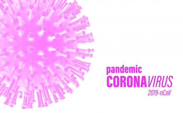Covid-2019 colorato sfondo medico rosa.