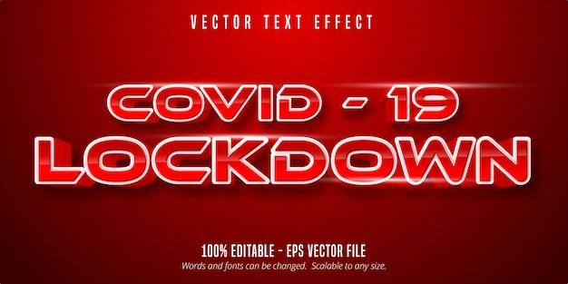 Covid19 lockdown text, effetto di testo modificabile