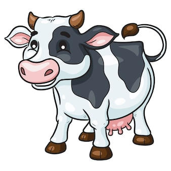 Cow cute cartoon