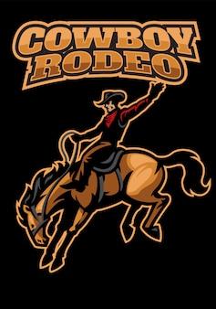 Cowboy che gioca rodeo