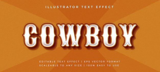 Cowboy vintage text style font effect