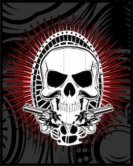 Cranio con pistola