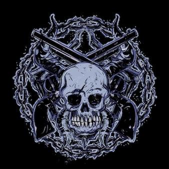 Cranio e pistole