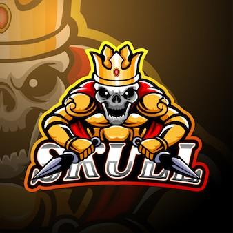 Cranio esport logo design della mascotte