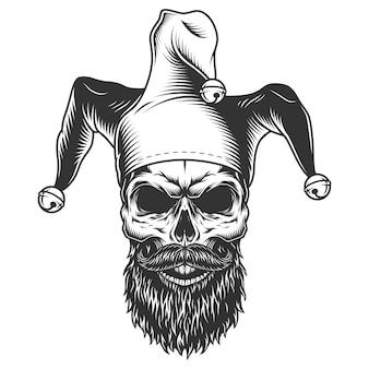 Cranio in cappello da giullare