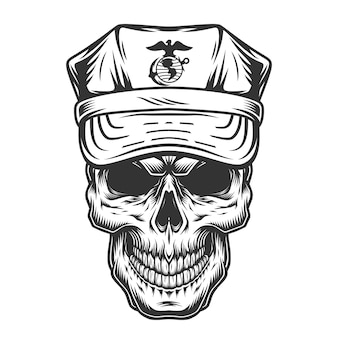 Cranio in cappello di ufficiale militare