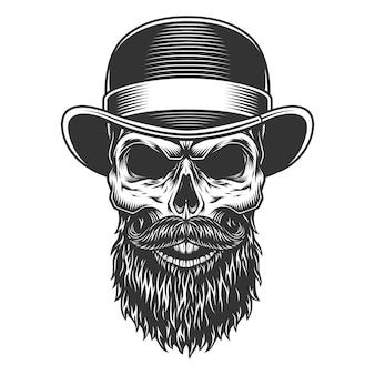 Cranio nel cappello a bombetta