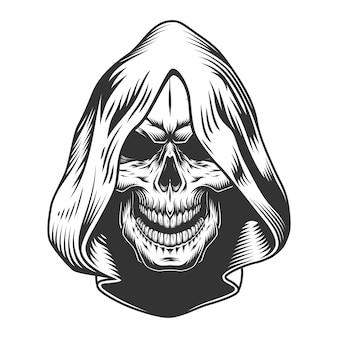Cranio nel cappuccio