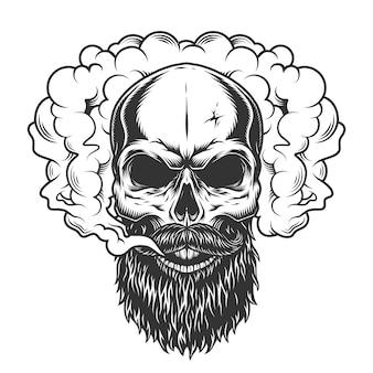 Cranio nel fumo