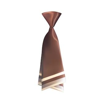 Cravatta 3d realistica su bianco